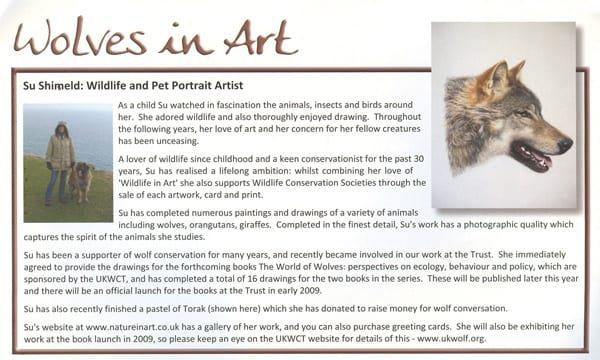 Wolf Journal - Wolves in Art article by Susan Shimeld - UK Wolf Conservation Trust