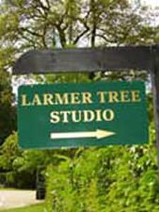 Larmer Tree Studio swing sign 2005